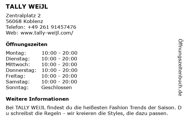 Tally Weijl Deutschland GmbH in Koblenz: Adresse und Öffnungszeiten