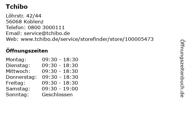 Tchibo Filiale mit Kaffee Bar in Koblenz: Adresse und Öffnungszeiten