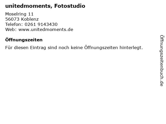 unitedmoments, Fotostudio in Koblenz: Adresse und Öffnungszeiten