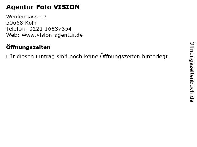 Agentur Foto VISION in Köln: Adresse und Öffnungszeiten
