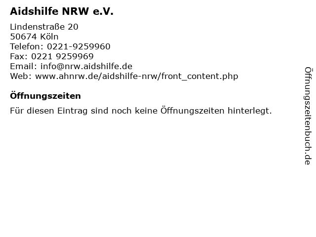 Aidshilfe NRW e.V. in Köln: Adresse und Öffnungszeiten