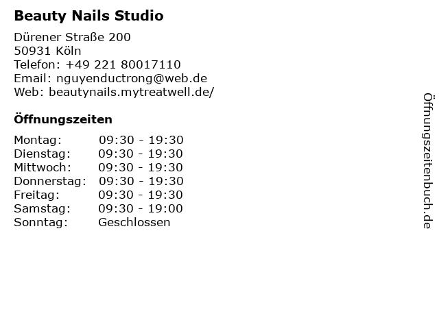 Beauty Nails Studio in Köln: Adresse und Öffnungszeiten