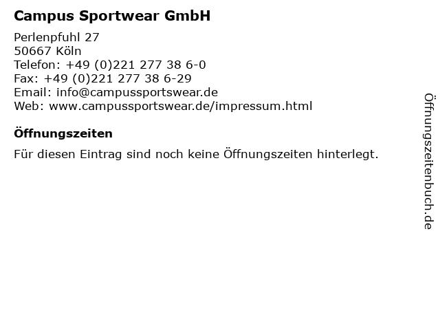 Campus Sportwear GmbH in Köln: Adresse und Öffnungszeiten
