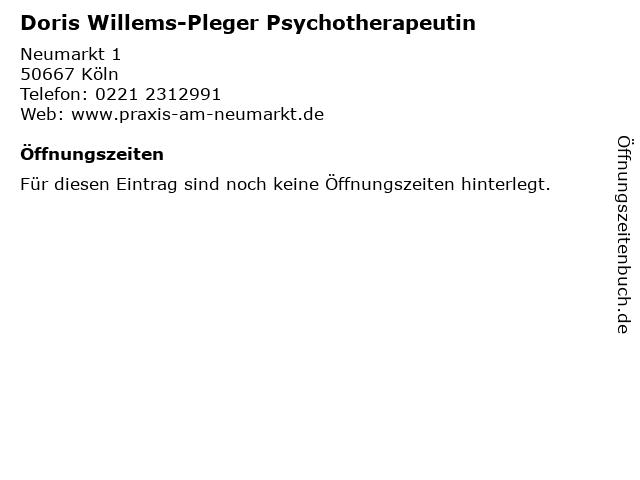 Doris Willems-Pleger Psychotherapeutin in Köln: Adresse und Öffnungszeiten