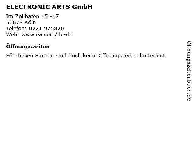 ELECTRONIC ARTS GmbH in Köln: Adresse und Öffnungszeiten