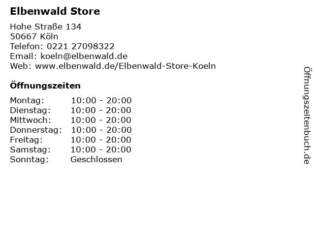 Elbenwald Store in Köln: Adresse und Öffnungszeiten
