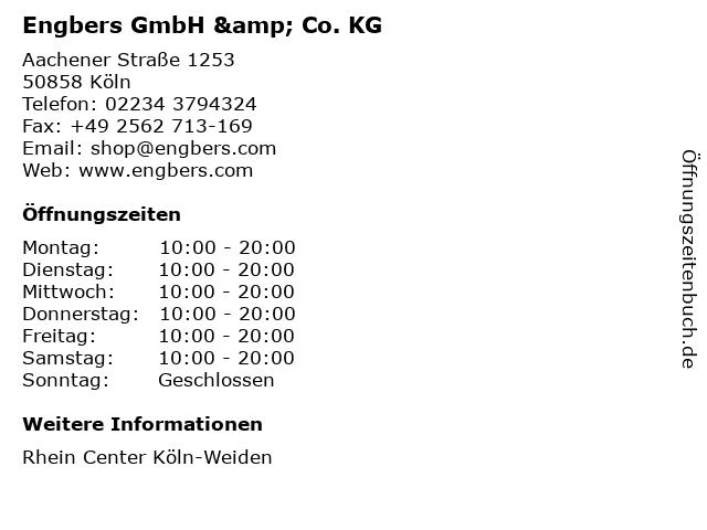 Engbers GmbH & Co. KG in Köln: Adresse und Öffnungszeiten