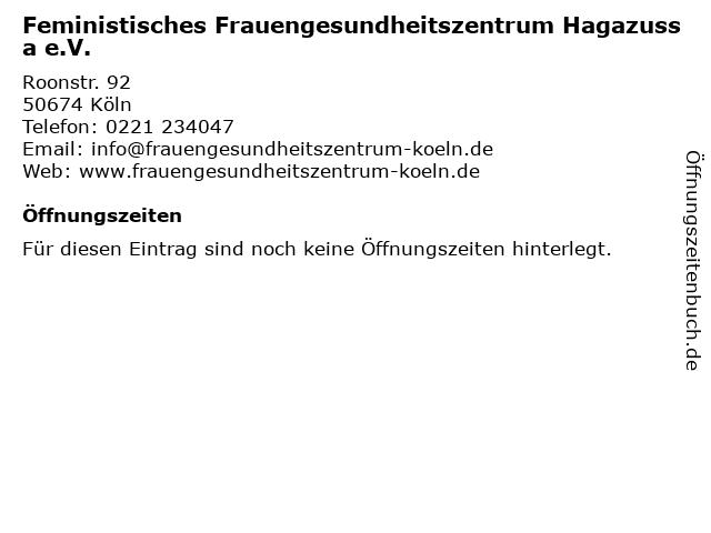 Feministisches Frauengesundheitszentrum Hagazussa e.V. in Köln: Adresse und Öffnungszeiten