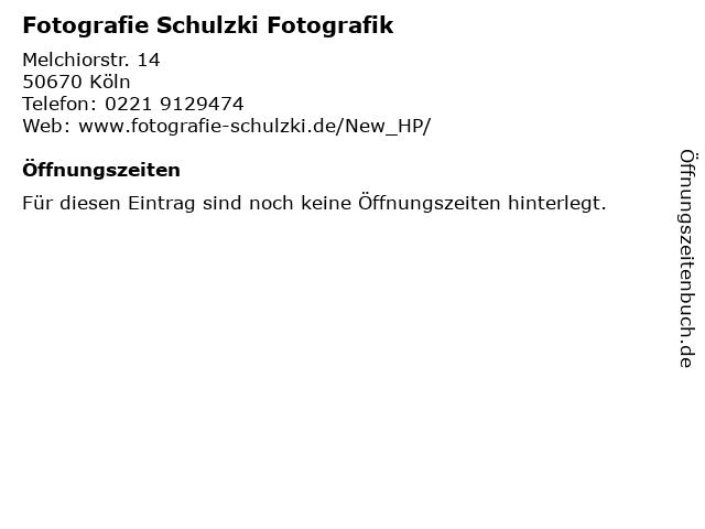 Fotografie Schulzki Fotografik in Köln: Adresse und Öffnungszeiten
