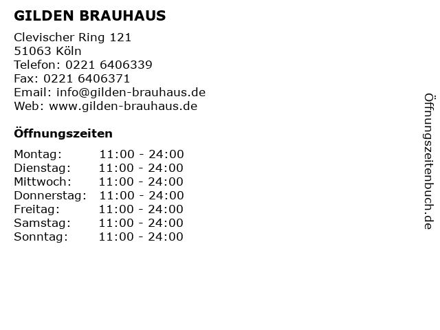 GILDEN BRAUHAUS in Köln: Adresse und Öffnungszeiten