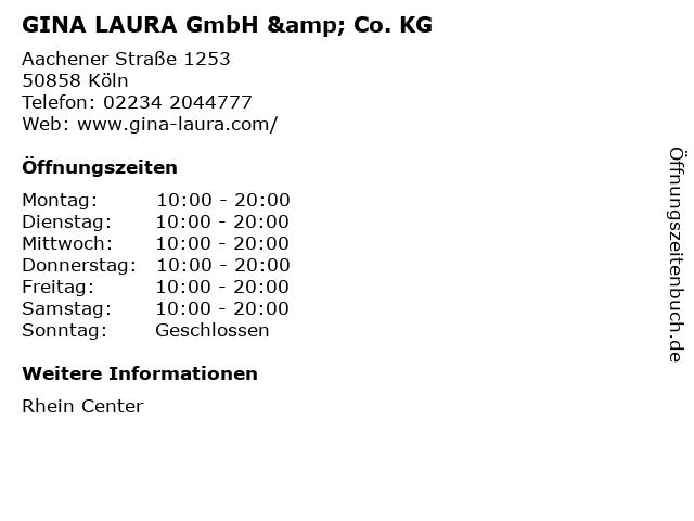 GINA LAURA GmbH & Co. KG in Köln: Adresse und Öffnungszeiten