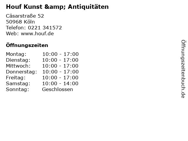 Houf Kunst & Antiquitäten in Köln: Adresse und Öffnungszeiten