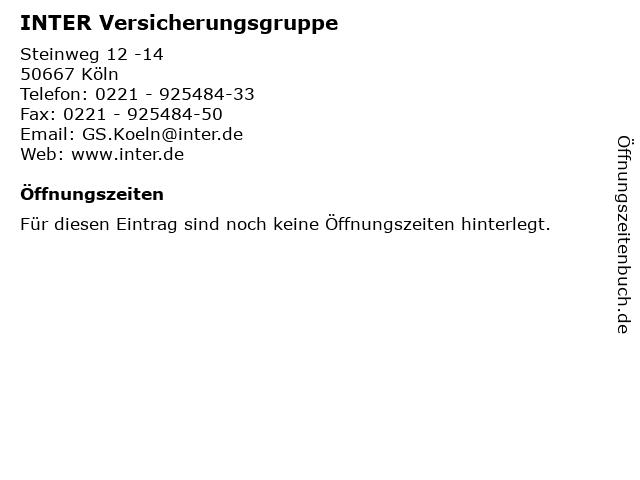 INTER Versicherungsgruppe in Köln: Adresse und Öffnungszeiten