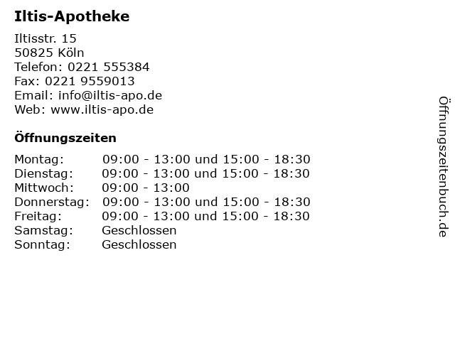 Iltis-Apotheke in Köln: Adresse und Öffnungszeiten