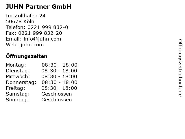 JUHN Partner GmbH in Köln: Adresse und Öffnungszeiten