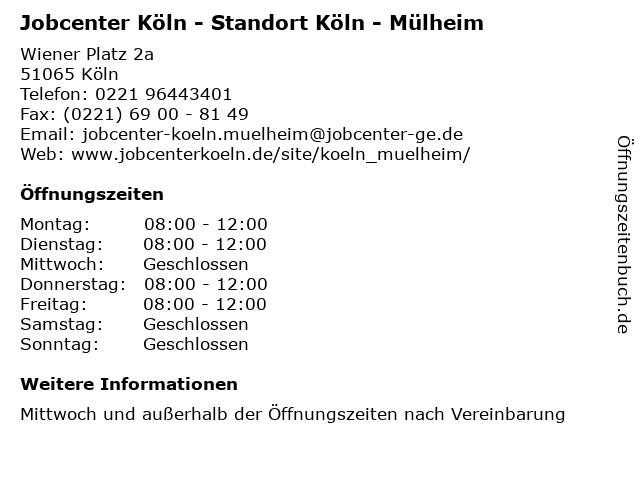 Jobcenter Köln Adresse