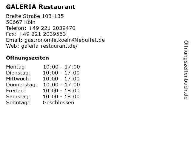 Karstadt Restaurant in Köln: Adresse und Öffnungszeiten