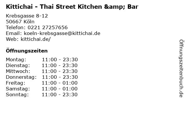 Kittichai - Thai Street Kitchen & Bar in Köln: Adresse und Öffnungszeiten
