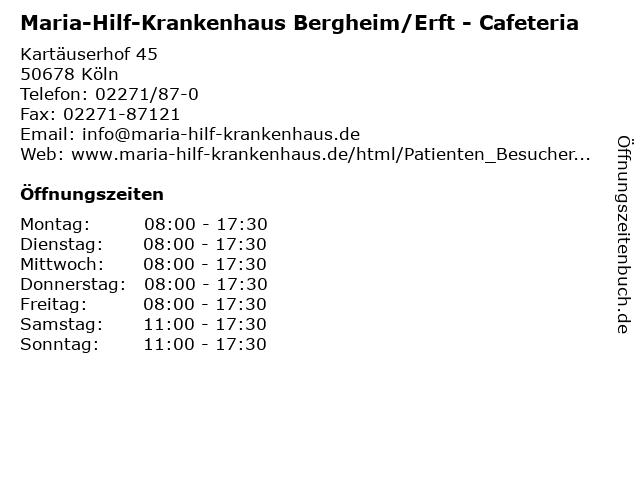 Maria-Hilf-Krankenhaus Bergheim/Erft - Cafeteria in Köln: Adresse und Öffnungszeiten