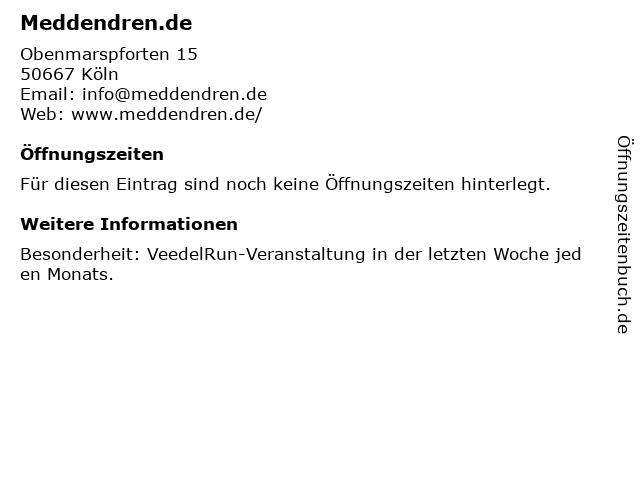 Meddendren.de in Köln: Adresse und Öffnungszeiten