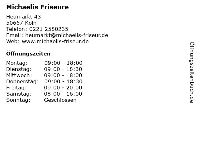 Michaelis Friseure in Köln: Adresse und Öffnungszeiten