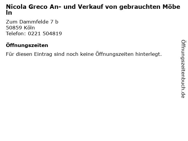ᐅ öffnungszeiten Nicola Greco An Und Verkauf Von Gebrauchten