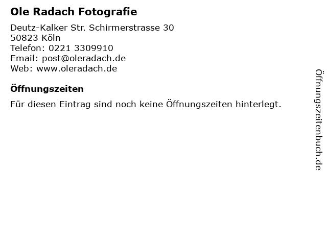 Ole Radach Fotografie in Köln: Adresse und Öffnungszeiten