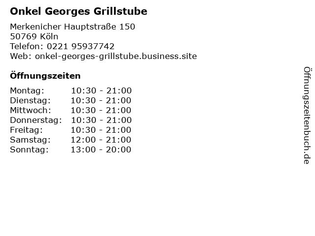 Onkel Georges Grillstube in Köln: Adresse und Öffnungszeiten