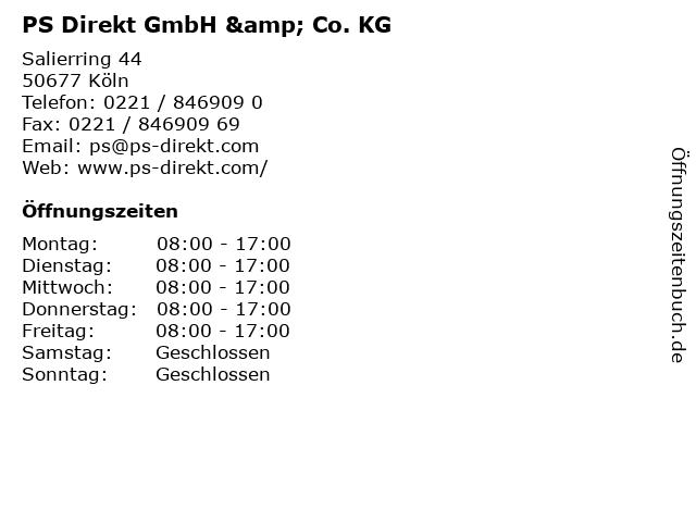 PS Direkt GmbH & Co. KG in Köln: Adresse und Öffnungszeiten