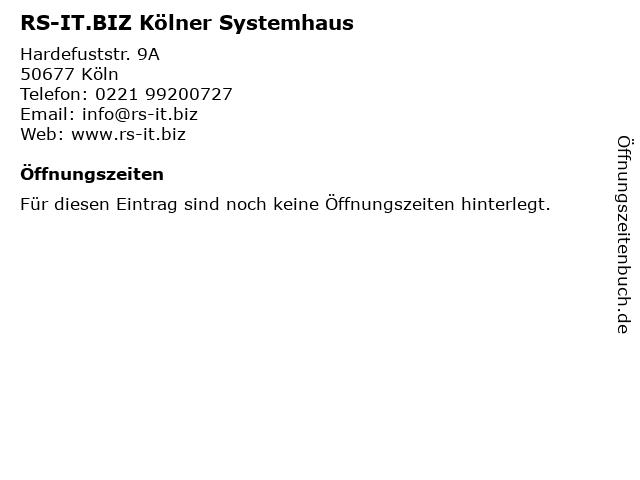 RS-IT.BIZ Kölner Systemhaus in Köln: Adresse und Öffnungszeiten
