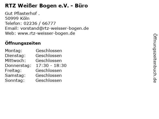 RTZ Weißer Bogen e.V. - Büro in Köln: Adresse und Öffnungszeiten