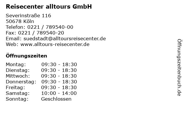 Reisecenter alltours GmbH in Köln: Adresse und Öffnungszeiten