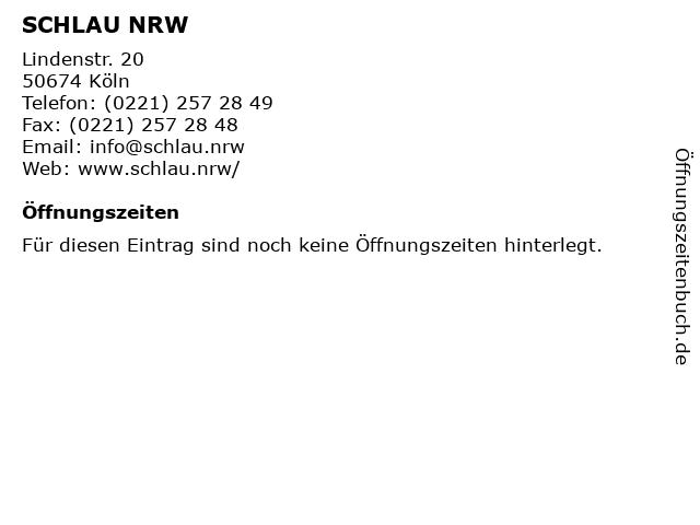SCHLAU NRW in Köln: Adresse und Öffnungszeiten