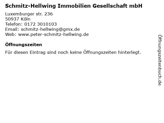 Schmitz-Hellwing Immobilien Gesellschaft mbH in Köln: Adresse und Öffnungszeiten