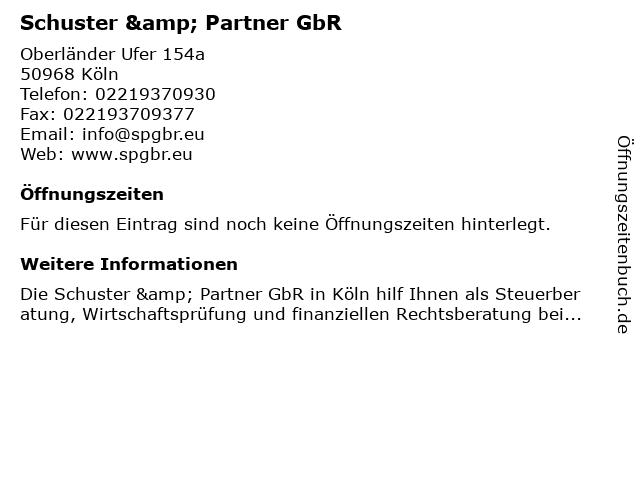 Schuster & Partner GbR in Köln: Adresse und Öffnungszeiten