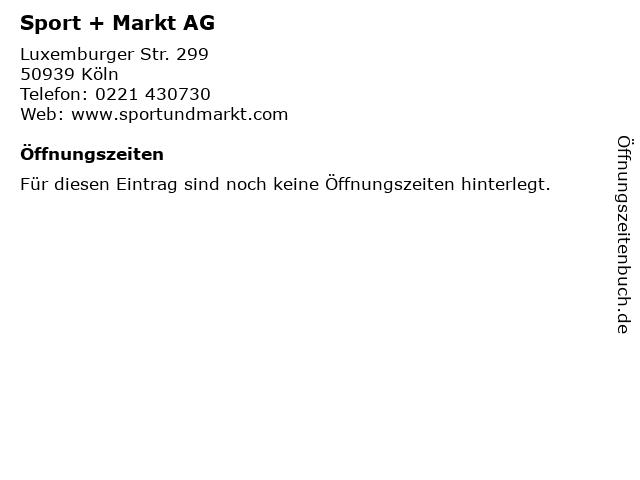 Sport + Markt AG in Köln: Adresse und Öffnungszeiten