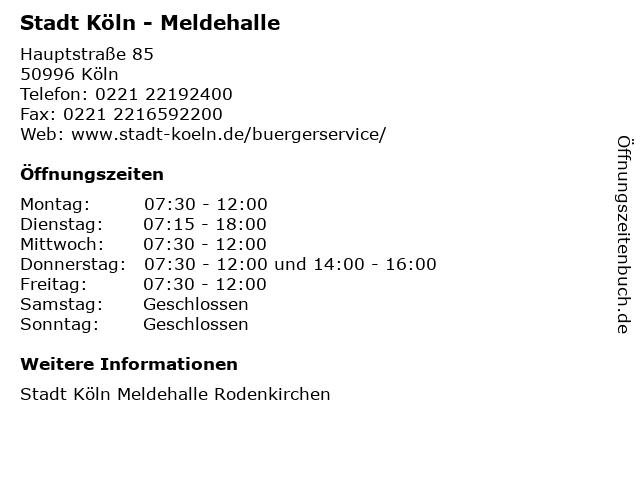 Meldehalle Köln Ehrenfeld