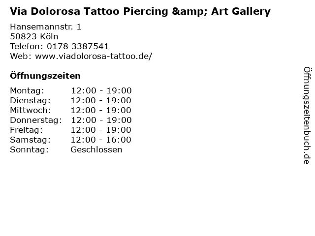 Via Dolorosa Tattoo Piercing & Art Gallery in Köln: Adresse und Öffnungszeiten