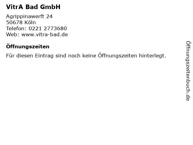 VitrA Bad GmbH in Köln: Adresse und Öffnungszeiten