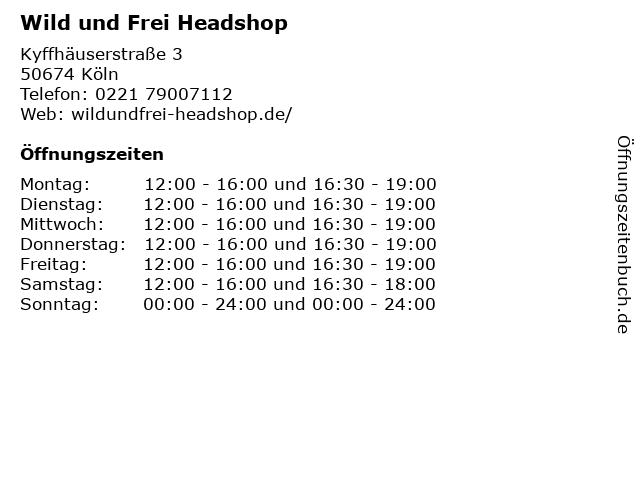 Wild und Frei Headshop; Vaporizer, Grow & Hanfkleidung in Köln: Adresse und Öffnungszeiten
