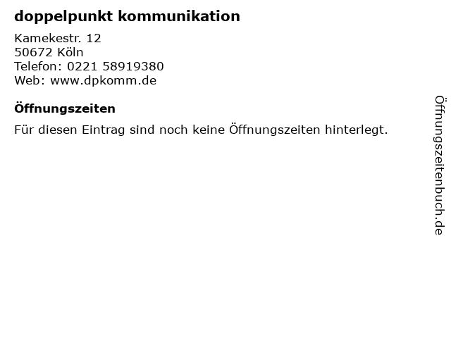 doppelpunkt kommunikation in Köln: Adresse und Öffnungszeiten