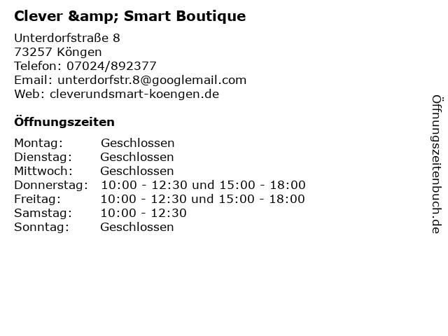 Clever & Smart Boutique in Köngen: Adresse und Öffnungszeiten