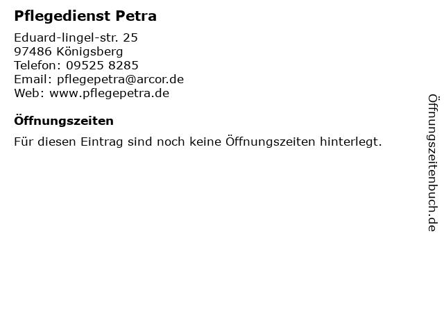Pflegedienst Petra in Königsberg: Adresse und Öffnungszeiten