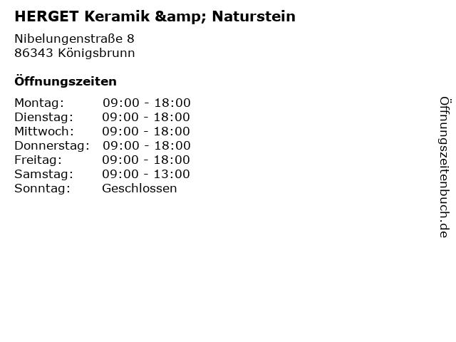 HERGET Keramik & Naturstein in Königsbrunn: Adresse und Öffnungszeiten