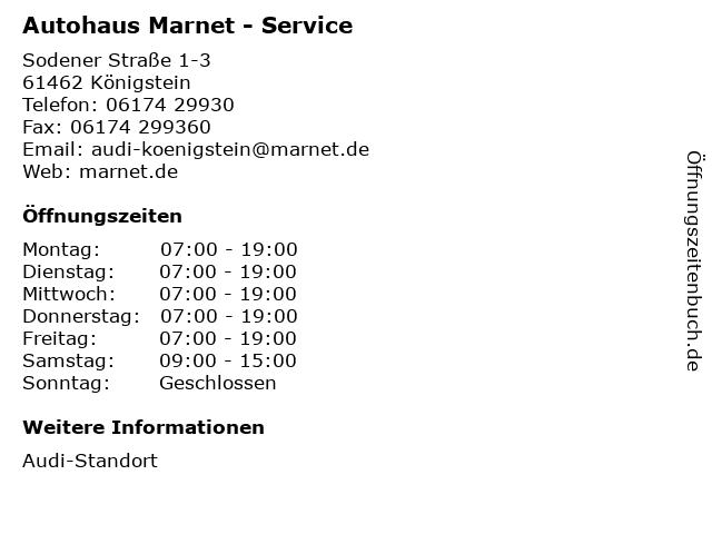 Autohaus Marnet - Service in Königstein: Adresse und Öffnungszeiten
