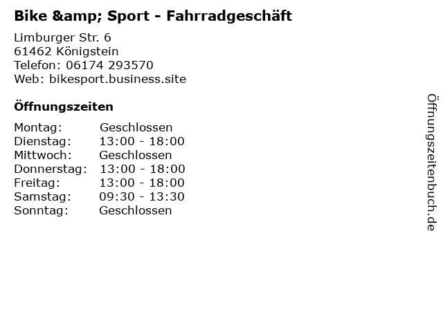 Bike & Sport Rainer Lauber in Königstein: Adresse und Öffnungszeiten