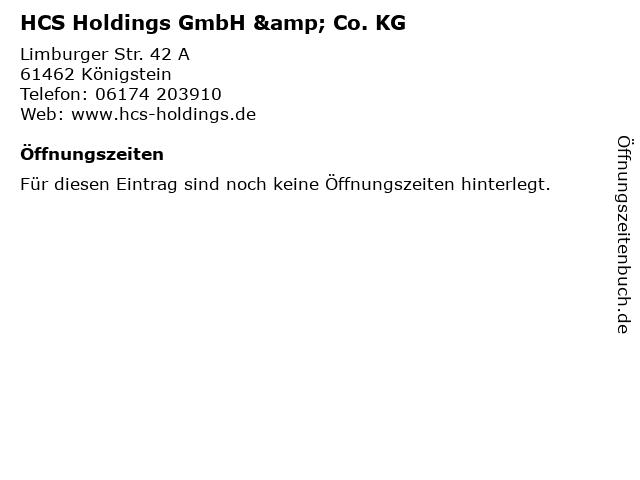 HCS Holdings GmbH & Co. KG in Königstein: Adresse und Öffnungszeiten