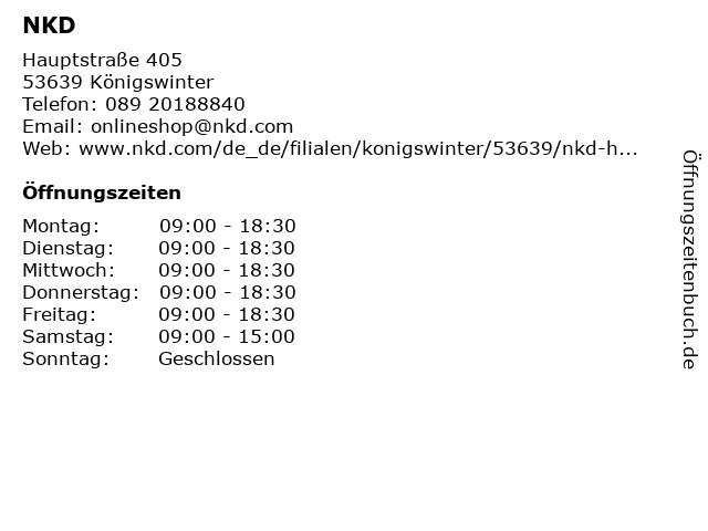 NKD in Königswinter: Adresse und Öffnungszeiten