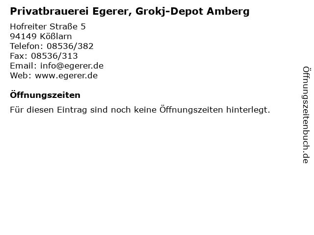 ᐅ öffnungszeiten Privatbrauerei Egerer Grokj Depot Amberg