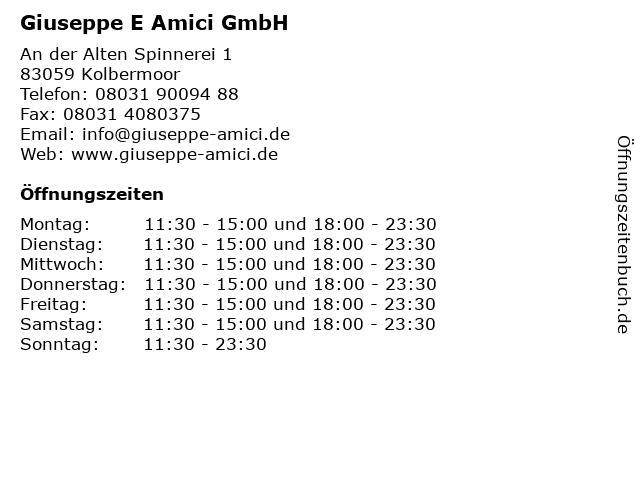 Giuseppe E Amici GmbH in Kolbermoor: Adresse und Öffnungszeiten